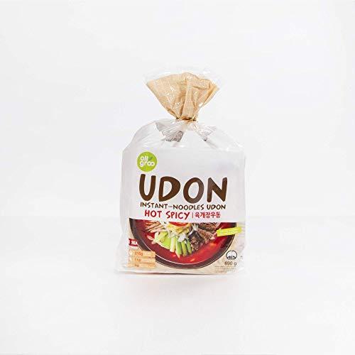Allgroo Udon Instantnudeln - würzig-scharfe Udon Suppe, schnelle Zubereitung - enthält 3 Portionen - 1 x 690 g