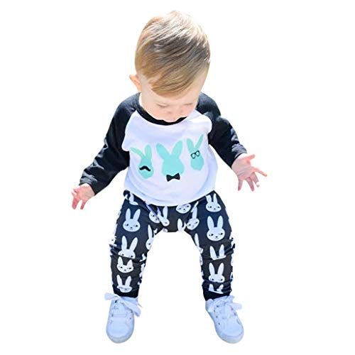 Ostern Baby Kleidung Set, Neugeborenes Baby Mädchen Jungen Cartoon Erste Ostern 3D Bunny Outfits Romper + Bunny Pants Kinder Pyjama