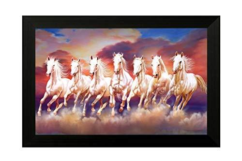 NOBILITY Seven Lucky Running Horses Painting Vastu Wall...