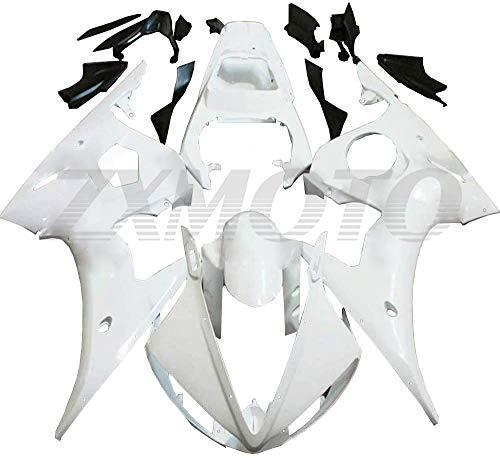 ZXMOTO Unpainted Motorcycle Fairings Kit for 2005 Yamaha YZF R6 Fairings Bodywork Kit