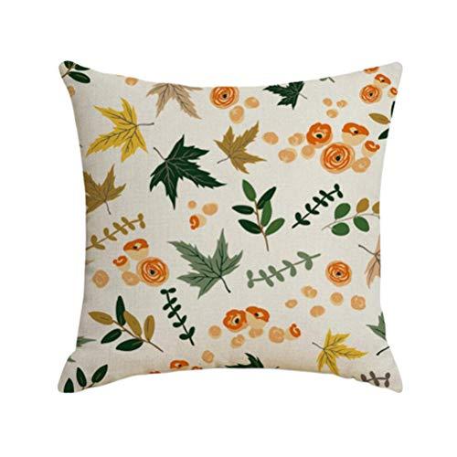 Fundas de almohada de lino con diseño de hojas y bayas, fundas de almohada, protectores de cojín para decoración del hogar, sin base de almohada, unisex