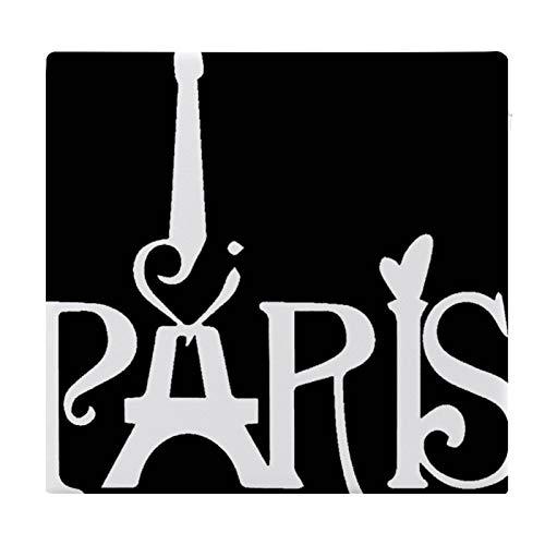 Cojín Cojín de Asiento de Espuma viscoelástica Square Paris Cojín súper Acogedor Cojín Suave para Interior