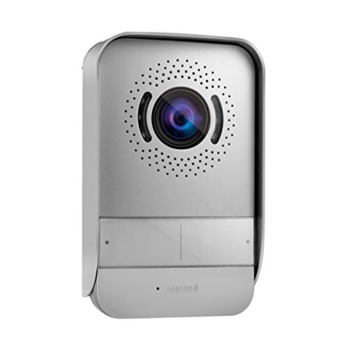 Legrand 369220 Kit Portier Visiophone avec Interphone et Écran Miroir 7', Noir
