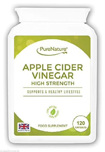 Apple Cider Vinegar |120 Capsules not Tablets or Liquid | 60 Day Supply | Made in The UK | PureNature