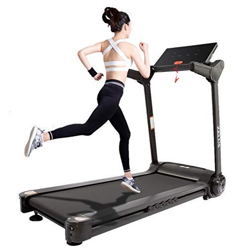 Z ZELUS Tapis Roulant Pieghevole Elettrico Treadmill Professionale Alzabile velocità Regolabile 14.8KM/H Allenamento Fitness per Casa Ufficio Bluetooth con USB App (Nero 14.8KM/H)