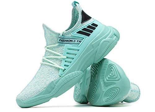 ZKPZYQ Zapatillas de deporte para hombre y mujer, zapatillas de caminar, ligeras, antideslizantes, transpirables, para correr, (40, verde A)