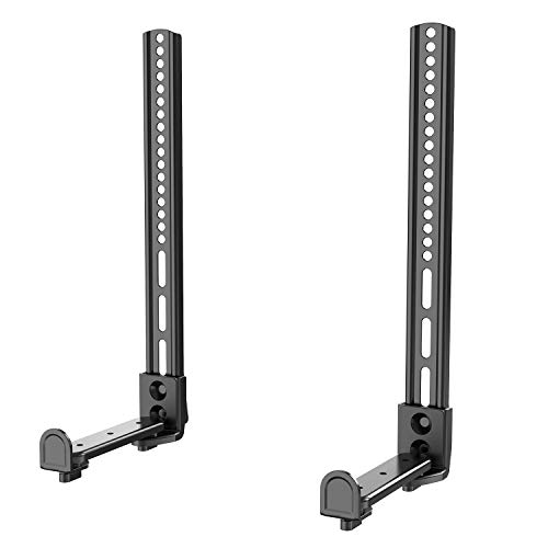 WALI Universal Sound Bar Mount Bracket for Mounting Above or Under TV with Non-Slip Base Holder...