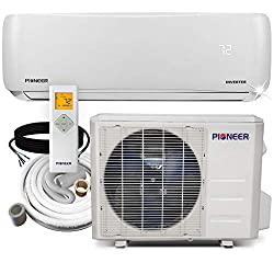 PIONEER Air Conditioner WYS018G-19 Wall Mount Ductless Inverter+ Mini Split Heat Pump, 18000 BTU-208/230V