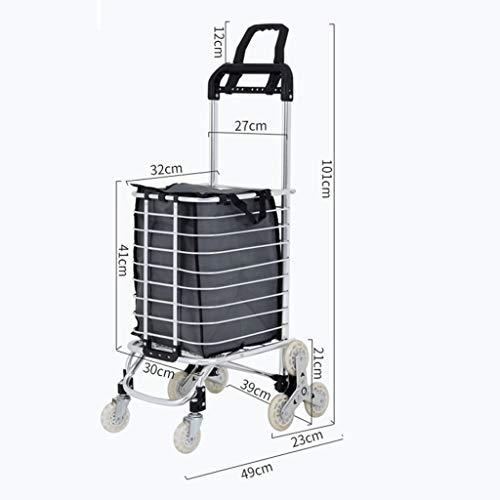 Carrello della spesa Popolic Grocery Carrello Piccolo Cart Home Shopping luce portatile pieghevole del carrello Pull Cargo Trailer salire le scale a mano Carrello Carrello della spesa pieghevole