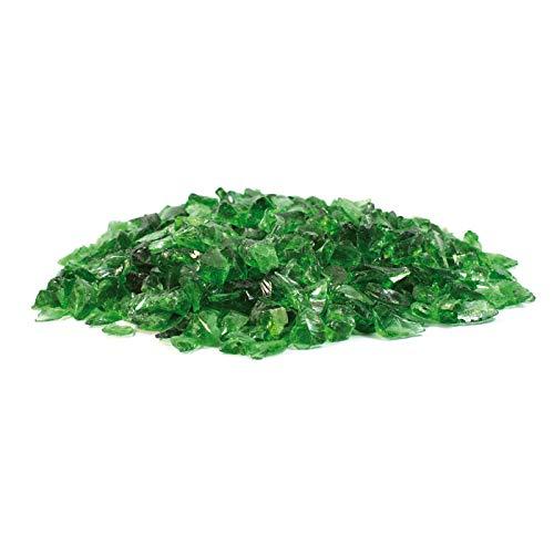Steingrau Glasbrocken Glassplitt Dekoglas Gabionen Korngrößen 10-30mm grün 10kg
