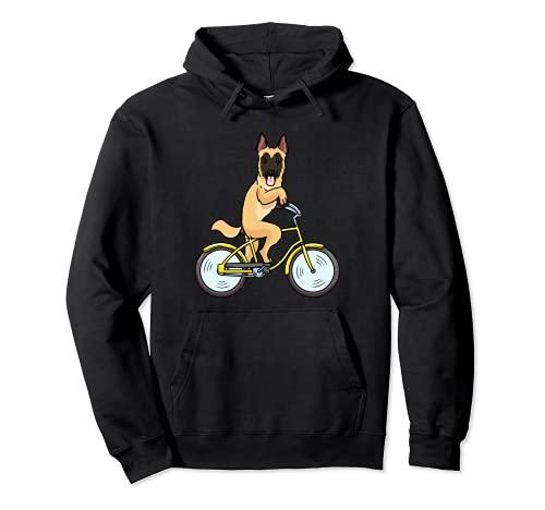 Malinois - Cane con bicicletta Felpa con Cappuccio
