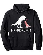 Mamasaurus mamá y bebé dinosaurio Sudadera con Capucha