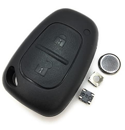DIY - Kit Réparation pour Opel Renault Nissan 2 Bouton Télécommande Clé Remise à Neuf