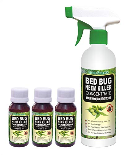 Green Dragon's Bed Bug Neem Killer Concentrate | Makes 1420ml Ready to Use