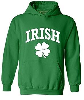 Awkwardstyles Irish Clover Hoodie Drunk Beer St Patrick s Day Hooded Sweatshirt 2XL Green
