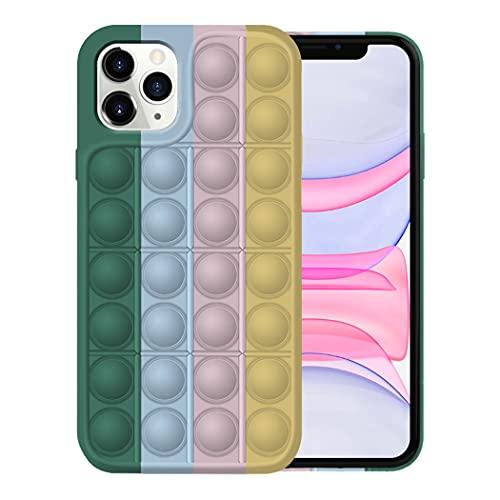 Fidget Toy Funda para iPhone 11/11 Pro Apple,Fidget Toy Pack iPhone 11/11 Pro Funda Silicona Antigolpes Pop It Fidget Toys Set Case (iPhone 11 Pro, 7)
