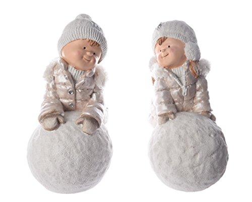 Kaemingk Décoration de Noël pour Enfant avec Boules de Neige 32,5 x 22,7 x 45 cm