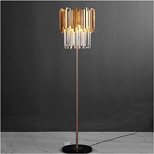 Lámpara LED de cristal de cristal de mármol de hierro nórdico Lámpara LED LED Lámpara de pie Lámpara de Piso Estilo Comedor Dormitorio Lámpara de pared,White light