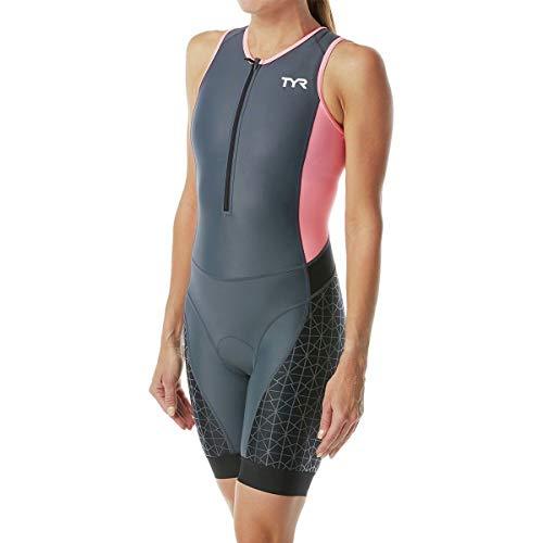 TYR TTSCOF6A194S F Competitor Trisuit Grey/Coral S