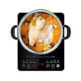 Placa Inducción Multifuncional, Placa De Inducción Portátil 2100W 10 Niveles De Potencia Temporizador De 3 Horas Control Táctil, Cocina De Inducción Eléctrica Para Casa Cocinando