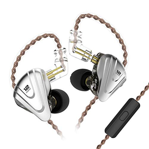 KZ ZSX Earbud 5BA 1DD 12 unità Hybrid Technology Sport HIFI Cuffie Auricolari Cuffie In-Ear (Con microfono, Nero )