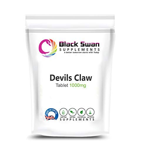 Black Swan Devil's Claw Supplement - Natural Supplement - with Anti-inflammatory Properties - Natural Pain Reliever - Support Joints Health and Aches - 1000mg Capsules (30 caps)