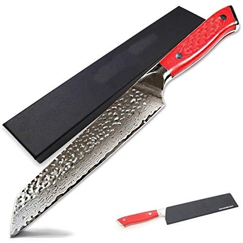 Cuchillo Damasco del cuchillo del cocinero 8,5 pulgadas japonesa Damasco inoxidable cocina de acero VG10 Kiritsuke cuchillo herramientas de cocina