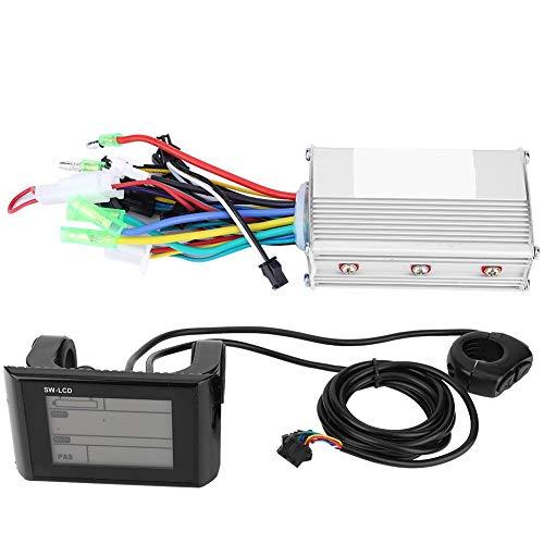 Liukouu 350W con Panel LCD Controlador sin escobillas Scooter Motor Controlador Plástico...