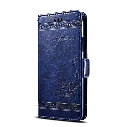 NEKOYA HomTom S8 Hülle,HomTom S8 Lederhülle,Handyhülle im Brieftasche-Stil für HomTom S8.Schutzhülle mit [Retro-Design][Standfunktion][Kartenfach][Magnetverschluss]