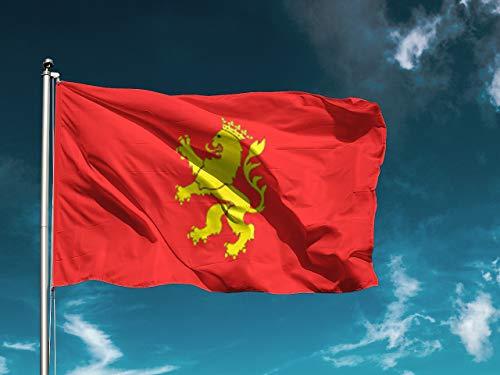 G I Bandera Zaragoza | Medidas 150cm x 85cm | Fácil colocación | Decoración Exteriores (1 Unidad)