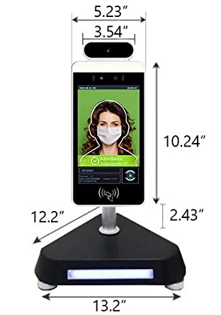 Automatic Mask Detection Automated Contactless Thermal Scan Floor Stand Employee Recognition  Temperature Measurement  Highly Accurate Scan in 1 Second Skreen Kiosk Full Size - 44