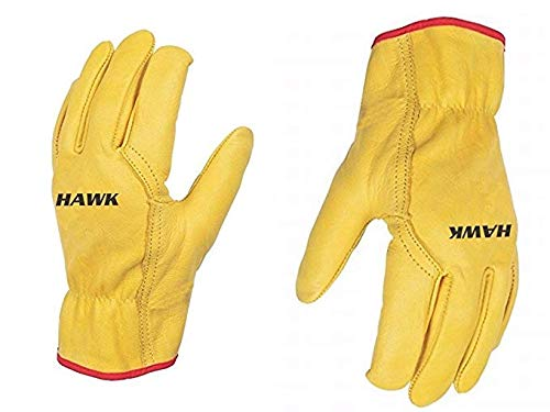 Unisex Leather Work Working Driving Gloves - Premium Quality - Driver/Lorry/Car Truck - Slick Fir -...