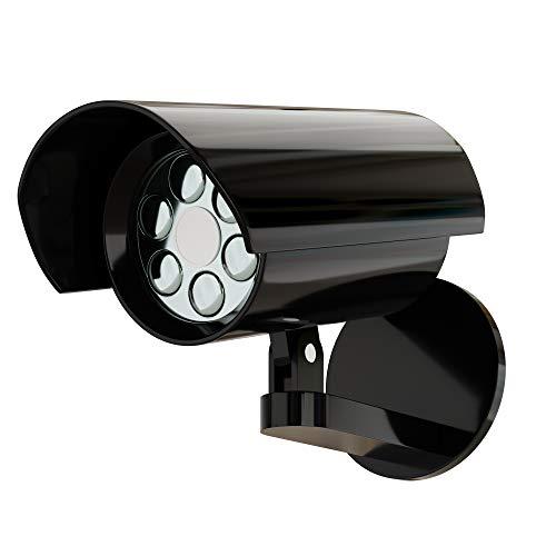 Proxinova Dummy Camera Outdoor Security Light with PIR Motion Sensor | Powerful LED Floodlight Bulbs Deter Suspicious Behaviour | IP65 Waterproof | Battery Powered Lighting | Multipurpose External Use