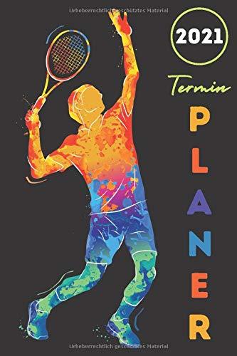 Terminplaner 2021 Tennis: tennis kalender 2021 - wochenplaner 2021 - Wochenkalender von Januar bis Dezember 2021 - 1 woche 2 seiten - jahresplaner ... A5 - geschenke für tennisfans männer frauen