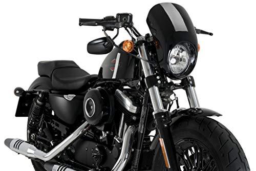 Customaccess AZ1104N Semi-Cupolino Modello Anarchy Nero Customacces per Harley Davidson Sportster...