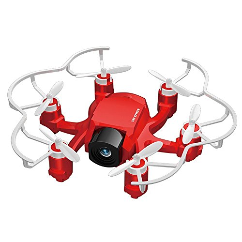Nuovo FQ777 126C FQ777-126C 2.4G 4CH 6 Axis Gyro modalit¨¤ senza testa 360 gradi eversione 3D tirare un tasto per tornare Dual Mode con HD macchina fotografica RC Quadcopter Spider Drone nel colore Rosso