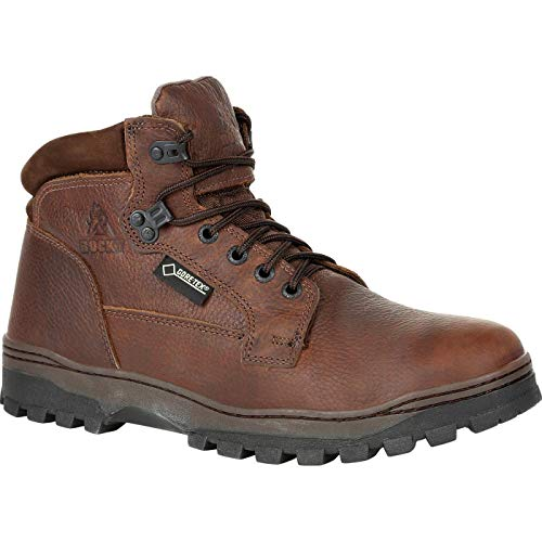 Rocky Outback Plain Toe Gore-TEX Waterproof Outdoor Boot Size 12(W) Brown