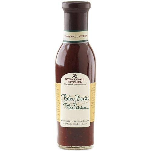 Baby Back Rib BBQ Sauce von Stonewall Kitchen (330 ml) - rauchige BBQ Sauce mit Hickory-Rauch - besonders lecker zu Ribs oder Hähnchen