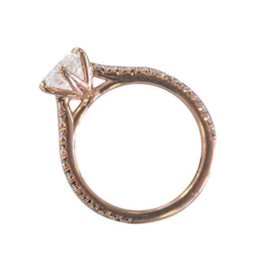 UINGKID Schmuck Damen Ring Einfache kreative Rose Gold sechs Klaue Diamant