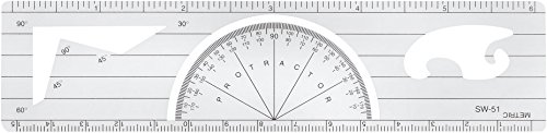 Westcott Lettercraft goniometro righello, 15,2cm/15cm (sw-51)