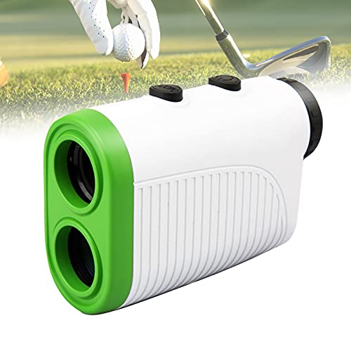 FRIBLSKEL Telemetro Láser Golf 440Yd/400M, Medidor Distancia Caza 6X,Carga USB,Medición Velocidad, Escaneo Continuo, Bloqueo Bandera con Cable Carga, Bolsa Almacenamiento,Blanco