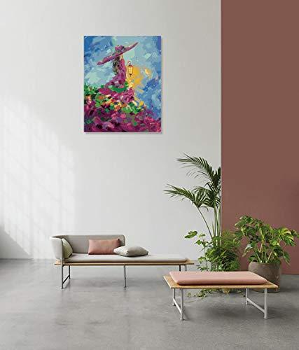 DIY Schilderen op nummerkinderen schilderen kitMagische lamp meisje handgeschilderd frameloos schilderij 40x50cm
