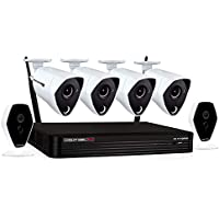 Night Owl 6-Channel 6-Camera (4 Wired 4K & 2 Wireless 1080p) 8MP Indoor/Outdoor 4K Hybrid 1TB DVR Surveillance System with Night Vision
