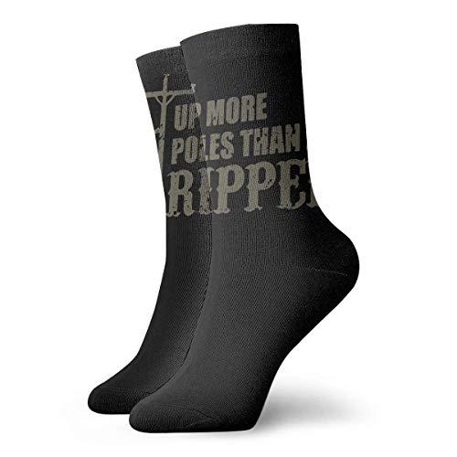 Ms polos que una stripper Calcetines largos de 30 cm Medias deportivas de algodn para ocio