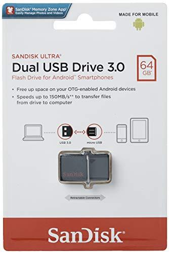 SanDisk Ultra 64 GB Dual USB-Flash-Laufwerk USB 3.0 bis zu 150MB/Sek
