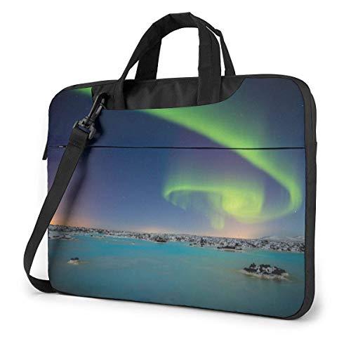 Laptop Shoulder Bag Carrying Laptop Case, Fantasy Aurora Computer Sleeve Cover, Business Briefcase Protective Bag