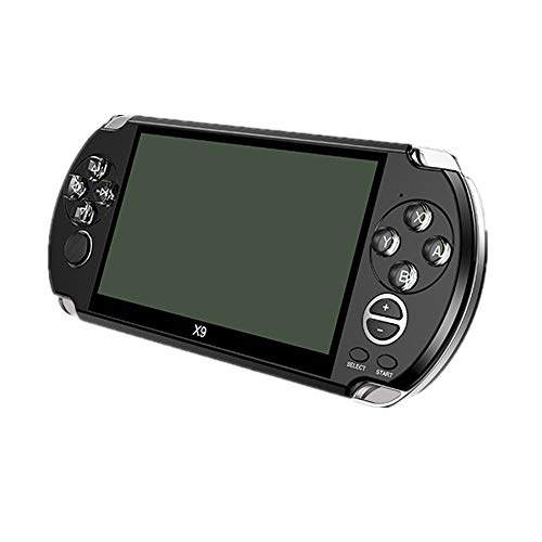 X9 Handheld Game Console 5 inch large Screen HD Video Game Console 8G Handheld Game Console Music E-book (Black)