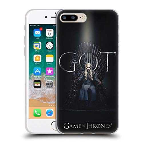 Head Case Designs Ufficiale HBO Game of Thrones Daenerys Targaryen Season 8 for The Throne 1 Cover in Morbido Gel Compatibile con Apple iPhone 7 Plus/iPhone 8 Plus