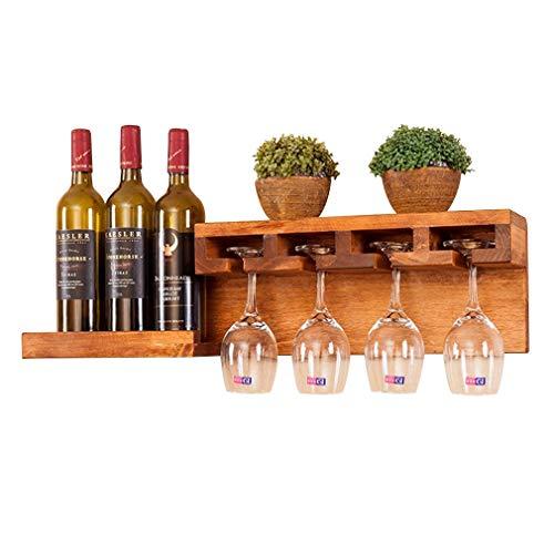 DECORACION FHW Estante del Vino solución Ideal de Almacenamiento de Vino Botellas Manual de Medición de Interior Real del Producto Vino hermético Titular de Vidrio Cm Madera Errorwall