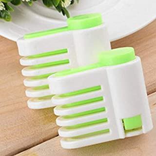 NeanSean 5 Layers Home Cake Pie Slicer Sheet Guide Cutter Server Bread Slice Knife Green